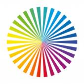 Rainbow Color Wheel Ink Stripes White — Stockvektor