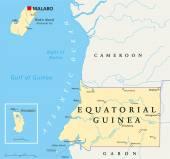 Equatorial Guinea Political Map — Stockvector