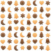 Christmas Cookies Assortment — Stock Vector