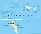 Seychelles Political Map — Stock Vector