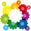 Rainbow Colored Flowers — Stock Vector #59545545