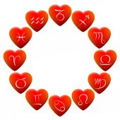 Astrology Signs Hearts — Stockvector