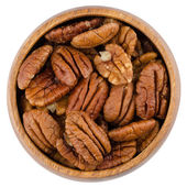 Bowl With Pecans — Stock Photo