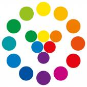 Color Wheel With Circles — Stock Vector