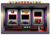 Slot Machine Blank — Stock Vector