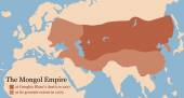 Mongol Empire Conquest Map — Vetor de Stock