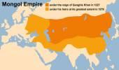 Mongol Empire Genghis Khan — Stock Vector