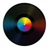 Unlabeled Record Rainbow Colors Vinyl — Stock Vector