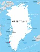 Greenland Political Map — Stock Vector