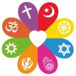 Religion Symbols Flower Love Colors — Stock Vector #71182483