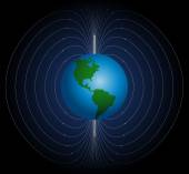 Terrestrial Magnetic Field — Stock Vector