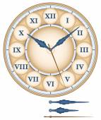 Clock Roman Numerals — Stock Vector