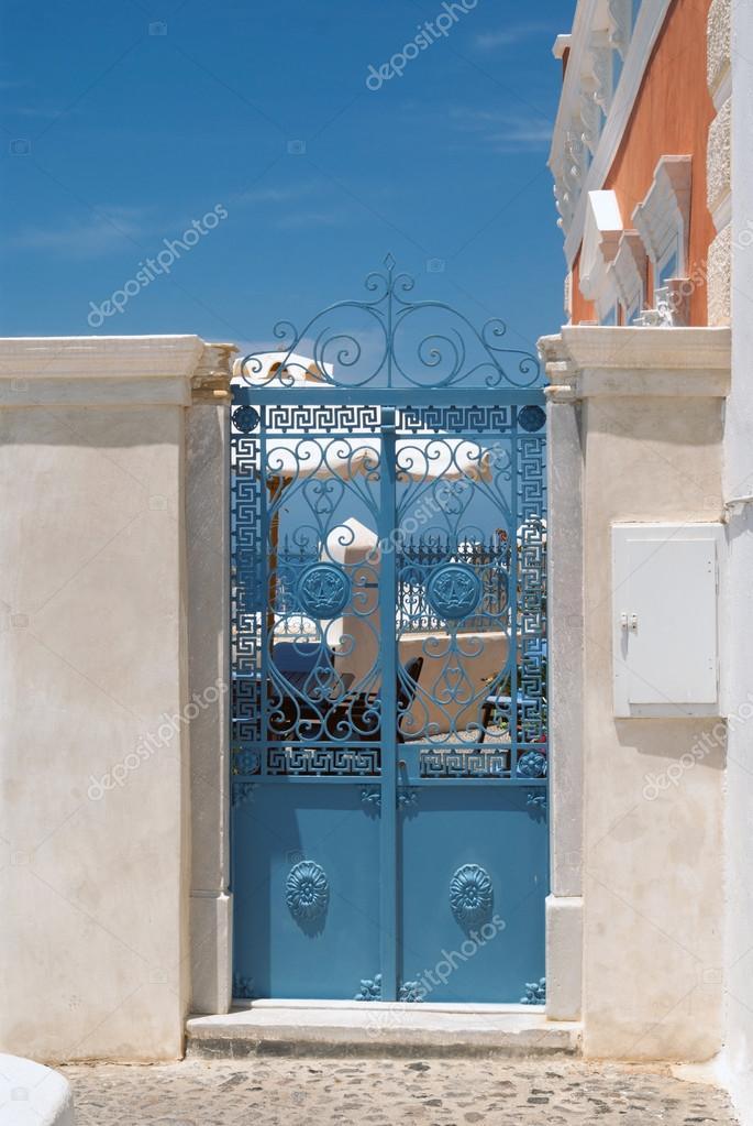Porte grecque traditionnelle sur l 39 le de santorin gr ce for Porte grecque