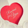 Reserved for you. Valentines day background with paper cut heart — Stock Photo #63601355