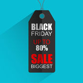 Flat sales tag for Black Friday — 图库矢量图片