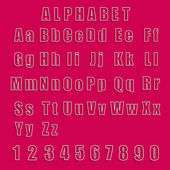 Collection vector alphabet and numbers — Stock Vector