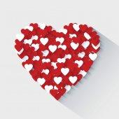 Valentines day heart flat design concept — 图库矢量图片