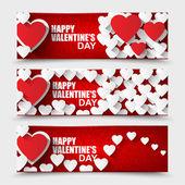 Kolekcja Happy Valentines Day banery — Wektor stockowy