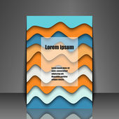 Template flyer with abstract background — Vecteur