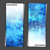 Set of banner templates with abstract background — Vecteur