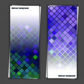 Set of banner templates with abstract background — Stockvector