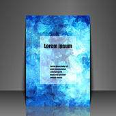 Template flyer with abstract background — Stockvector