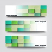 Set of banner templates with abstract background. — Stockvector