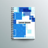 Notepad template with abstract background. — Stockvector