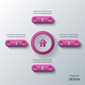 Infographics ontwerp. — Stockvector
