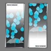 Set of banner templates with abstract background. Eps10 Vector illustration — Stock Vector