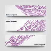 Set of banner templates with abstract background — Stock vektor