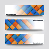 Set of banner templates with abstract background. — Stock Vector
