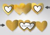 Kalp şeklinde şablon tebrik kartı. — Stok Vektör