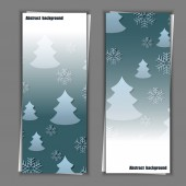 Set of banner templates with winter background. — Stock Vector