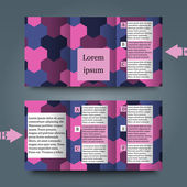 Brochure template with abstract background.  — Stock Vector