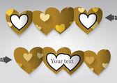 Plantilla de tarjeta de felicitación en forma de corazón. — Vector de stock