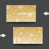 Business card template with winter background. — Stock Vector