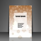 Template flyer with winter background. — Stock Vector