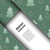 Brochure template with winter background. — Stock Vector
