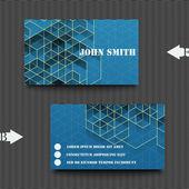 Visitenkartenvorlage mit abstrakten hintergrund. — Stockvektor