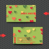 Business card template with love background. — Stockvector