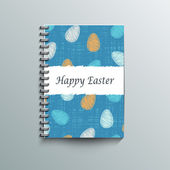 Notepad template with Easter background. — Stock Vector