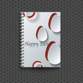 Notepad template with Easter  background.  — Stockvektor