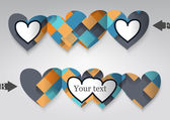 Cartão de modelo em forma de coração. — Vetor de Stock