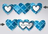 шаблон поздравительной открытки в форме сердца. — Cтоковый вектор