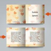 шаблон брошюры с любовным фоном. — Cтоковый вектор