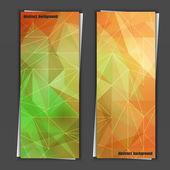 Satz von banner-vorlagen mit abstrakten hintergrund. — Stockvektor