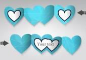 Pozdrowienie szablon w formie serca. — Wektor stockowy