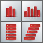 Set of banner templates with infographics design.  — Stock Vector