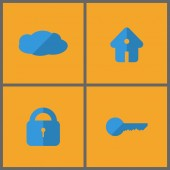 Set of four icons. — Stock Vector
